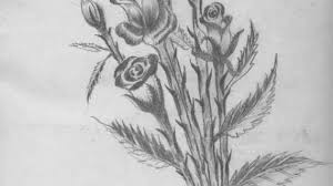 pencil paintings of flowers how to draw a flower vase pencil