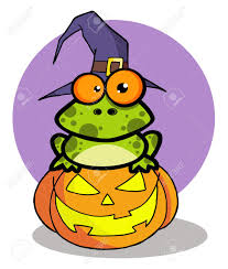 halloween clipart witch halloween frog with a witch hat in pumpkin royalty free cliparts