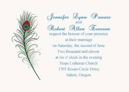 online marriage invitation simple and green printable peacock wedding invitation ewi207