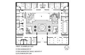 Plantation Home Blueprints Baby Nursery Courtyard House Plan Mission Style House Plans With