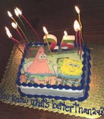 spongebob birthday cakes 25th birthday cake spongebob themed birthdays