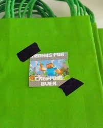 minecraft goody bags birthday party ideas minecraft birthday party ideas