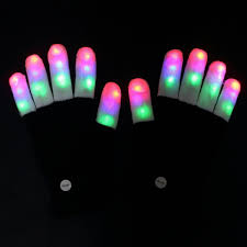 Best Halloween Light Show Amazer Finger Light Gloves Flashing Led Rave Gloves With Colorful