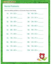 2nd grade mental math mental problem mental math problems math blaster