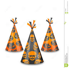 halloween party background halloween party hats isolated on white background stock vector