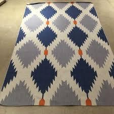 new west elm phoenix wool dhurrie rug 5 x 8 u0027 flat weave modern