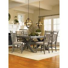 landon rectangle dining table distressed gray wash oak grove