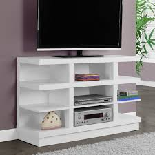 stand up l with shelves tv stand white modern entertainment center media console shelves