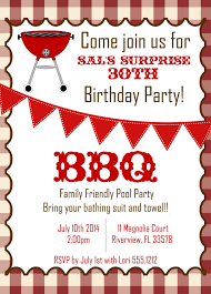 Surprise Invitation Cards Funny Picnic And Bbq Party Invitation Card For Birthday Event And