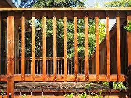 wood deck railing designs unique shaped decoration fence