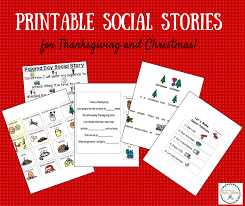 15 social stories for thanksgiving and printable or