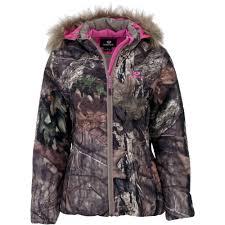 womens jacket bubble mossy oak breakup country walmart