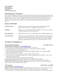 skill resume resume skill summary resume for study