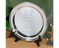25th anniversary plates personalized 25th wedding anniversary silver plate keepsake