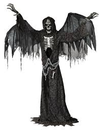 huge 7ft angel of death animated prop mad about horror