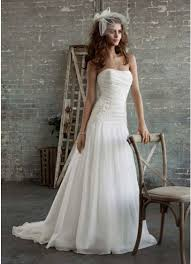 dropped waist wedding dress gossamer gown with drop waist and floral appliques david s bridal