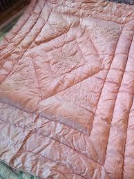 Pink Down Comforter 99 Best My Vintage Satin Down Comforters Images On Pinterest