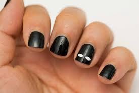 black nail art designs for short nails stylish tips