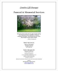Funeral Ceremony Program 6 Sample Funeral Program Free Sample Example Format Download