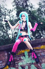 jinx cosplay league of legends cosplay by kyahri cosplay and