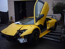 crashed lamborghini ultra rare lamborghini murcielago lp670 4 sv suffers crash