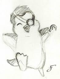 baby penguin pirate pencil sketch by flamboya on deviantart