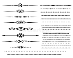 ornamental rule lines stock vector image 54618438