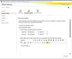 message d absence de bureau configurer les réponses automatiques pour un utilisateur dans