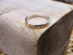 stackable engraved rings personalized name ring stackable handsted s ring