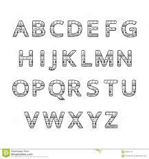 aztec ethnic ornamental font black and white color