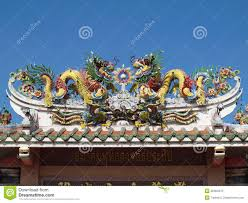 dragon chinese style roof decoration stock photo image 28464670