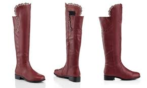womens boots the knee s knee embroidery design boots burgundy size 11 blinq