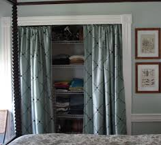 Closet Door Options by Stylish Closet Curtains Instead Of Doors Roselawnlutheran
