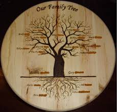 family wood wood burned tree carving crafthubs