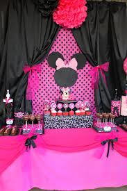 Pink And Black Minnie Mouse Decorations Party Printables Food Labels Black And Pink Mouse By Kalliegalaz