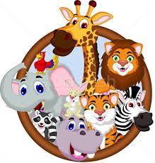 safari cartoon safari animal cartoon in frame vector illustration sujono sujono