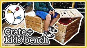 storage crate kids u0027 bench u2013 easy diy storage bench upcycling