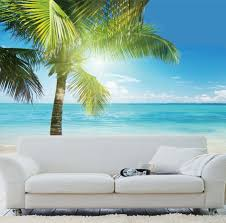 2016 home decor real new ocean palm tree sunshine landscape 2016 home decor real new ocean palm tree sunshine landscape painting print hd wall mural wallpaper for living room free shipping in painting calligraphy