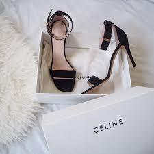 celine ankle strap sandals symphony of silk