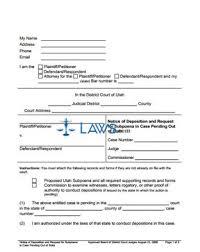 subpoena template printable warrant witness arrest legal pleading