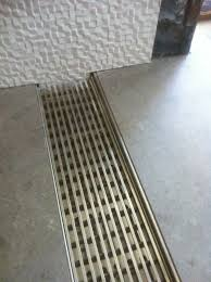 no curb shower drain makes a custom tile shower zero threshold