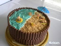 beach fun huggies birthday cake gallery huggies