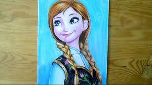 draw princess anna frozen movie draw kids