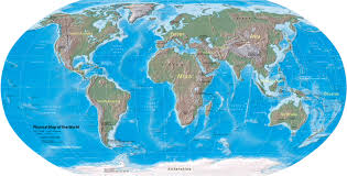 Physical Map Of North America by World Map Physical Map Of The World Nations Online Project