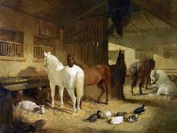four horses in a barn tile mural kitchen bathroom wall backsplash
