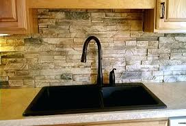 kitchen sink backsplash kitchen sink backsplash kitchen made from faux stone panels