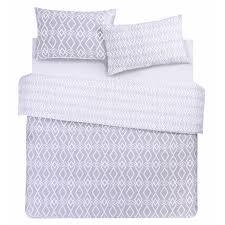 grey king size duvet cover u0026 two pillowcases set 230x220 primark