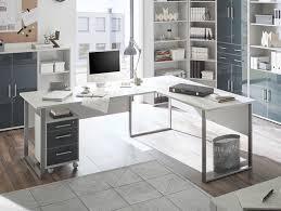 Schreibtisch Winkelkombination Office Deluxe Winkelkombination Weiß Grau Graphit Lackiert