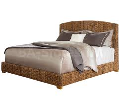 King Sleigh Bed Set by Coaster Co Laughton Woven Banana Leaf 4 Pc Bedroom Set Natural
