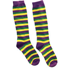 mardi gras socks buy mardi gras purple green yellow striped socks cappel s cincinnati